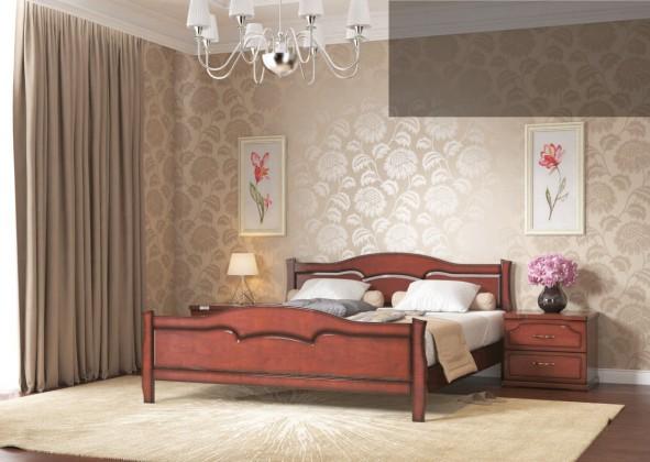 Кровать Лидия 160x200 (кедр)
